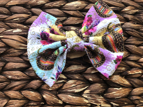 Gorgeous Pumpkin Big Fabric Bow