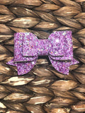 Grape Glitter Rae Bow