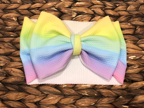 Pastel Striped Rainbow Headwrap