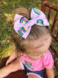 Rainbow Fabric Bow