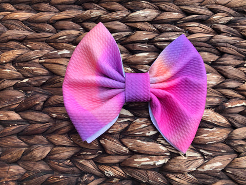 Neon Flow Big Fabric Bow