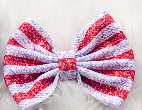 Stripes Big Fabric Bow