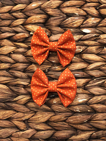 Burnt Orange Gold Dot Fabric Piggies