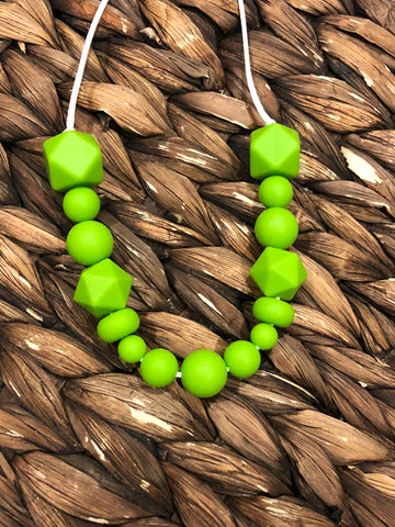 Lime green Teething Necklace