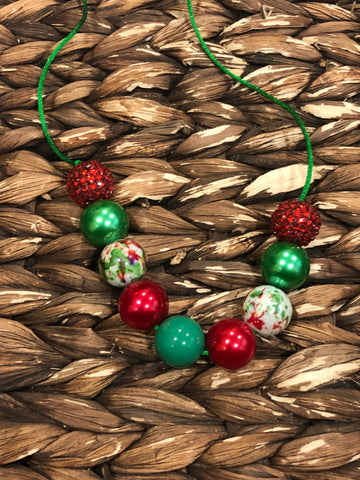 Red/Green Chunky Bubblegum Necklace