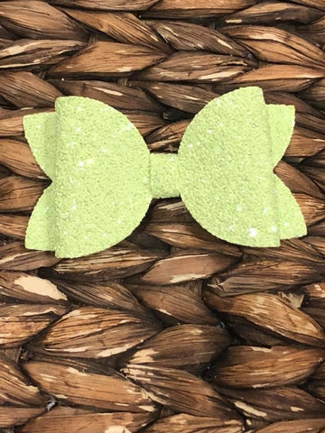 Light Green Glitter Elizabeth Bow