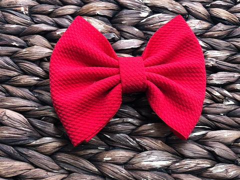 Red Big Fabric Bow