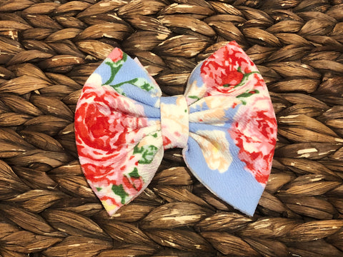 Perfect Floral Big Fabric Bow