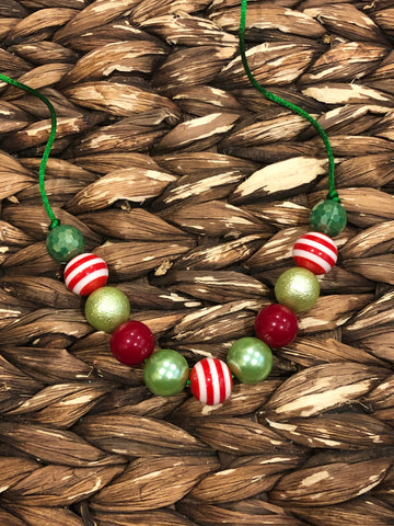 Red/Green Medium Chunky Bubblegum Necklace