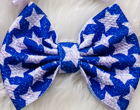 Stars Big Fabric Bow