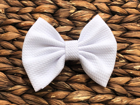 White Big Fabric Bow