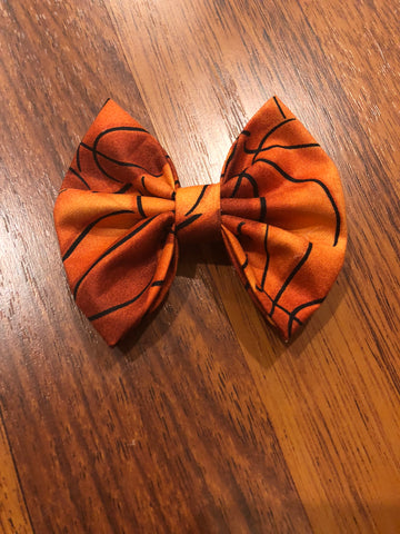 Basketball Fabric Bow