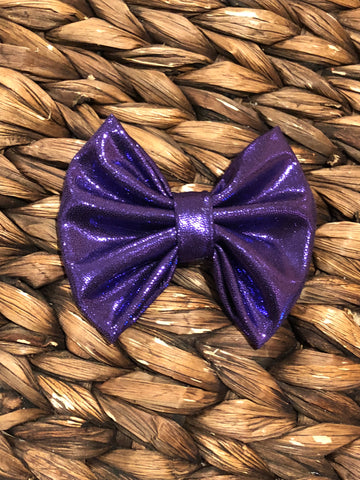 Purple Shine Fabric Bow