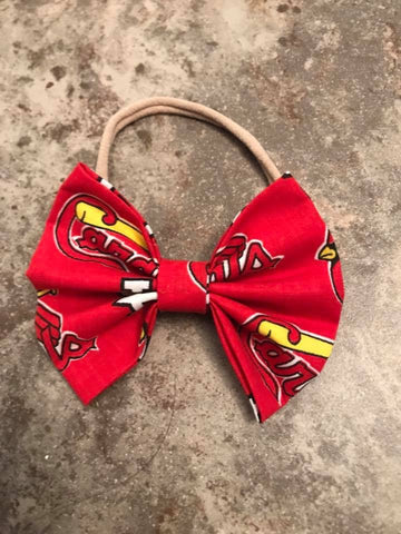 St. Louis Cardinals Sports Team Fabric Bow