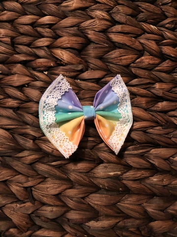 Rainbow vintage Fabric Bow