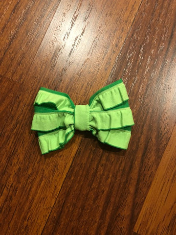 Green St. Patty Mini Messy Bow