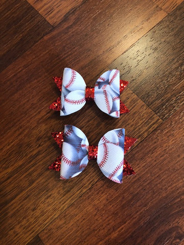 Baseball Elizabeth Glitter/Faux Leather Piggies