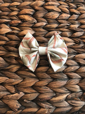 Baseball Fabric Bow