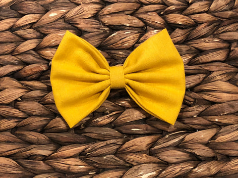 Fall Mustard Fabric Bow