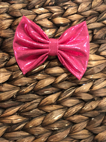 Hot Pink Shine Fabric Bow