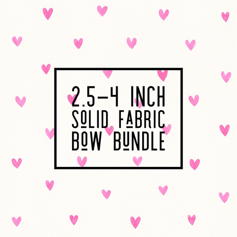 Solid Fabric Bow 2.5-4 inch Bundle