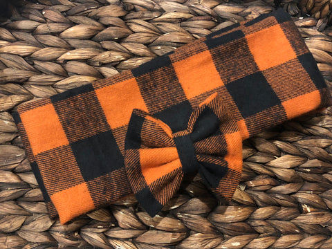 Orange/Black Scarf Set
