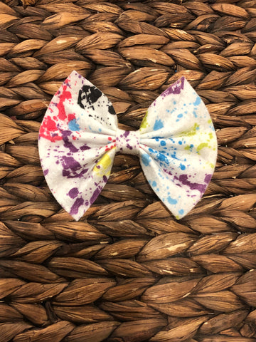 Paint Splatter Feltie Bow