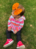 Neon Orange Feltie Bow