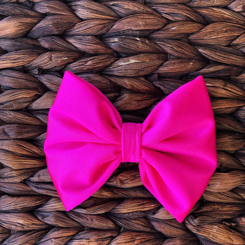 Neon Pink Fabric Bow