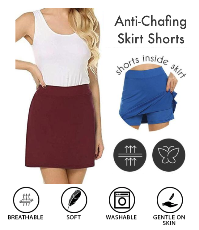 Anti-Chafing Skirt Shorts