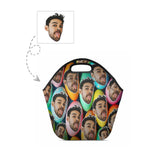 Custom Face Easter Eggs Neoprene Lunch Tote
