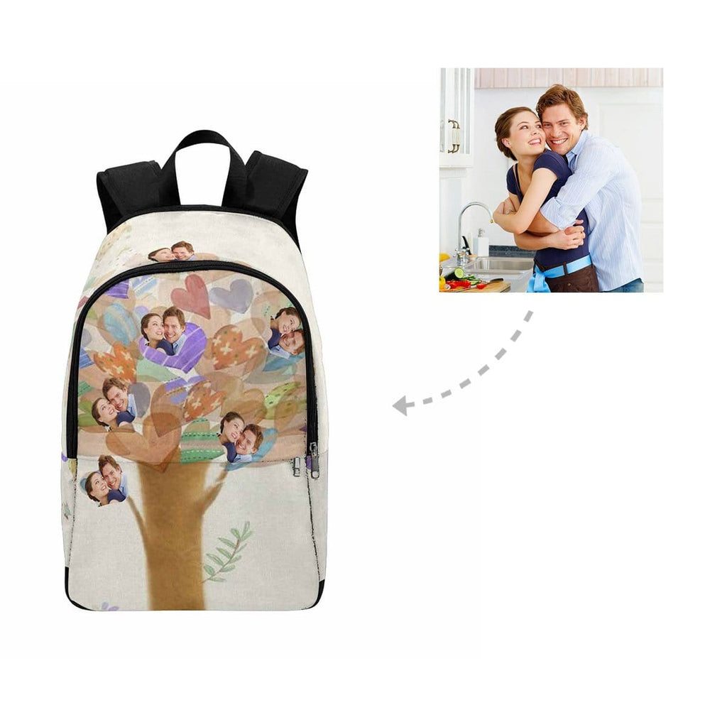 Custom Couple Face Tree of Love Heart Backpack