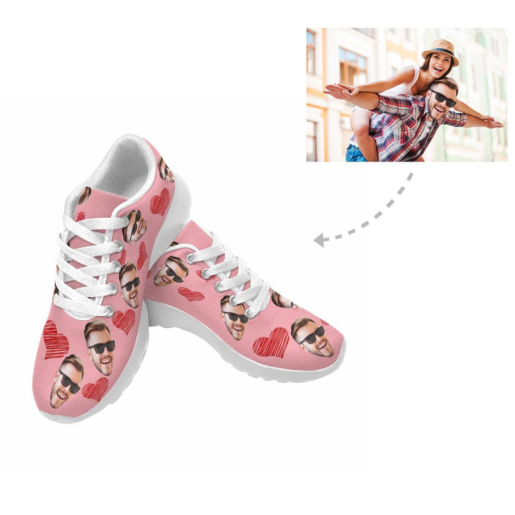 Custom Face Love Heart Women's Sneaker