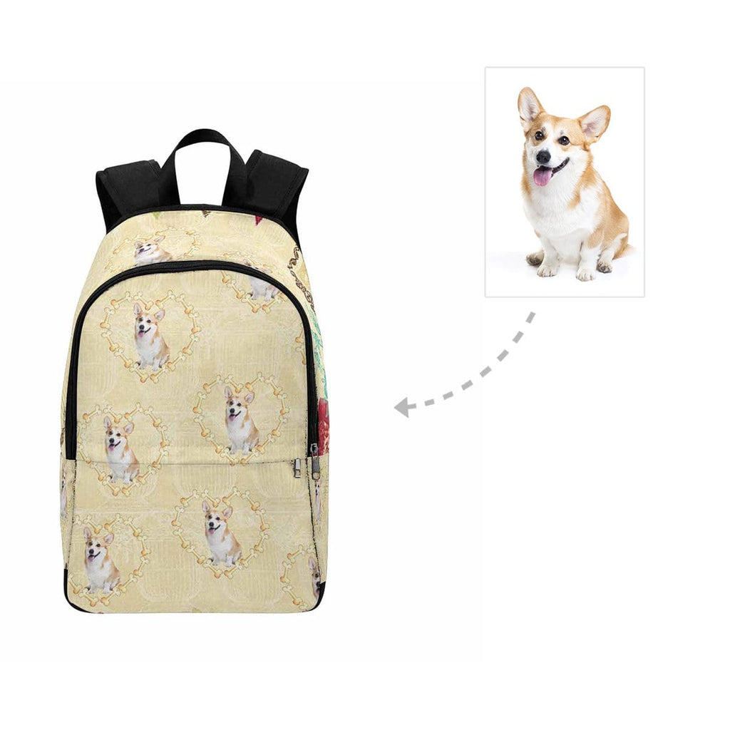 Custom Face Cute Dog Love Heart Backpack