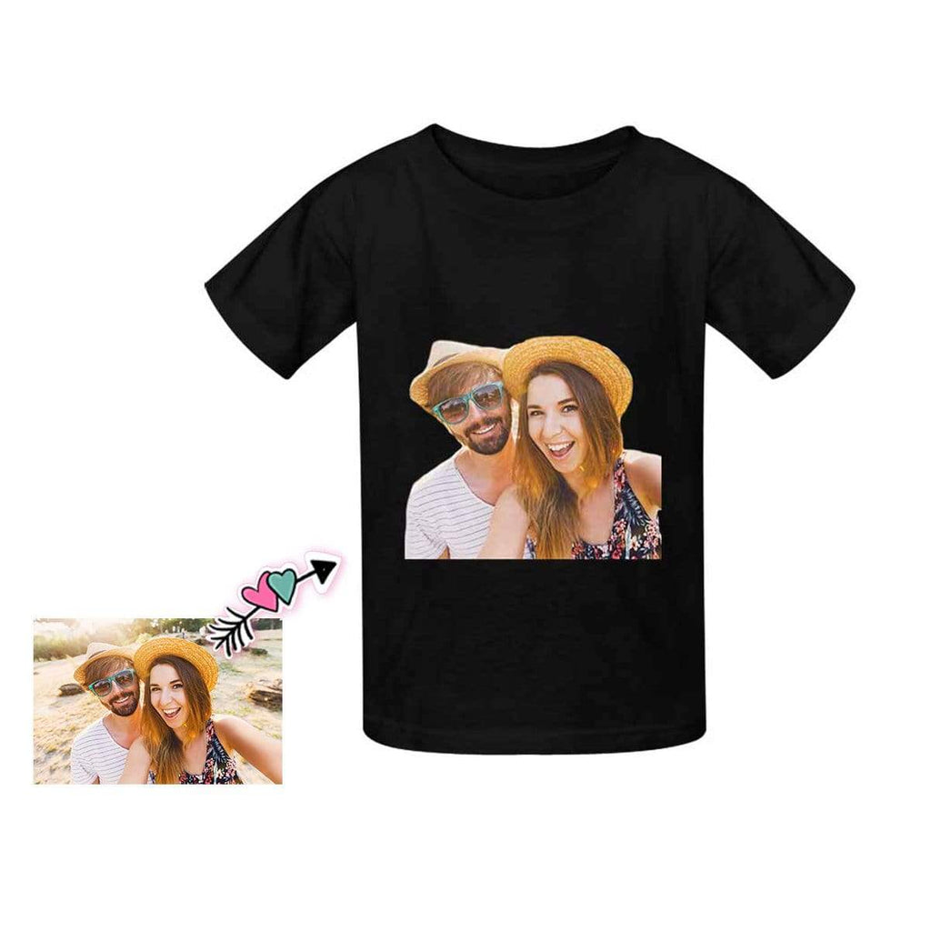 Custom Mom&Dad Face Kid's T-shirt