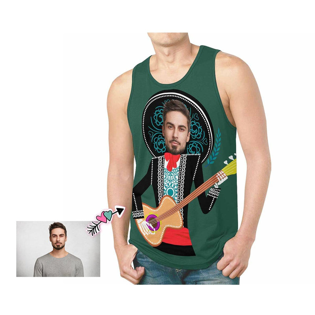 Custom Father Face Guitar Men's All Over Print Tank Top
