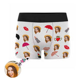 Custom Face Lipstick Men's Boxer Briefs