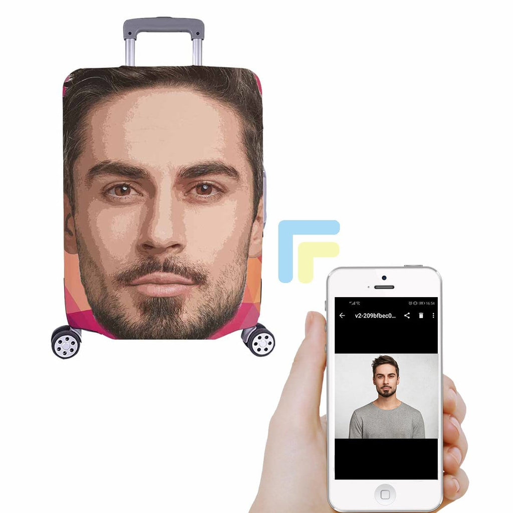 Custom Face Luggage Cover