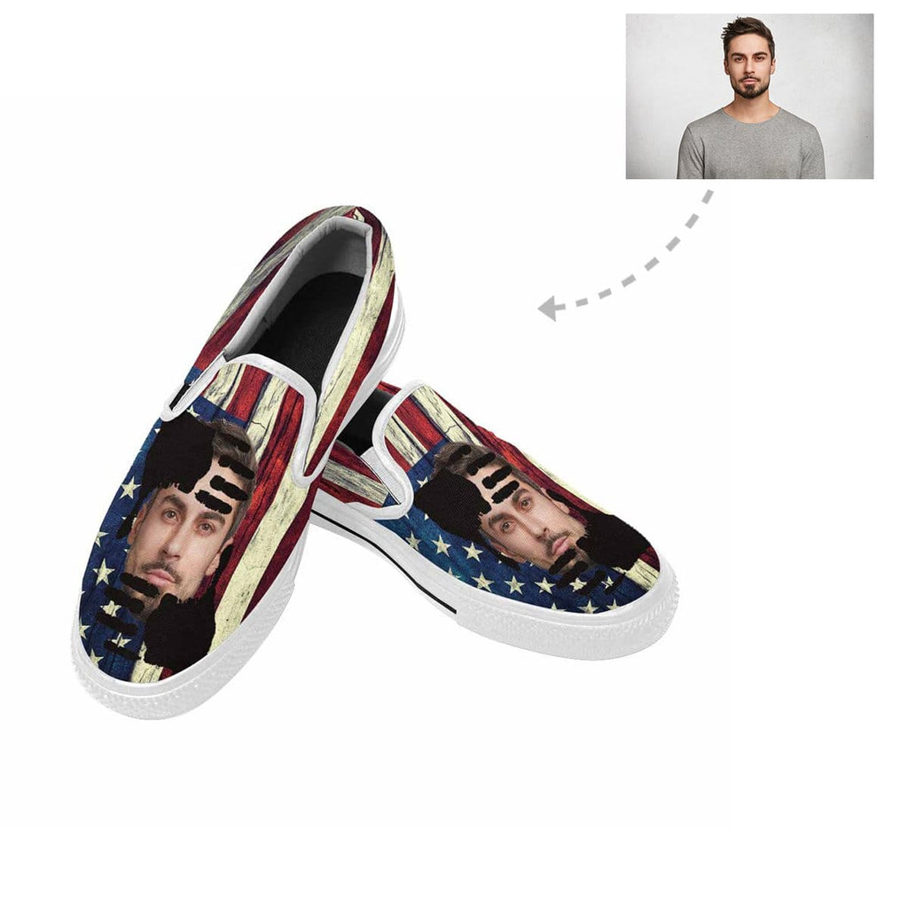 Custom Face Flag Slip-on Canvas Shoes