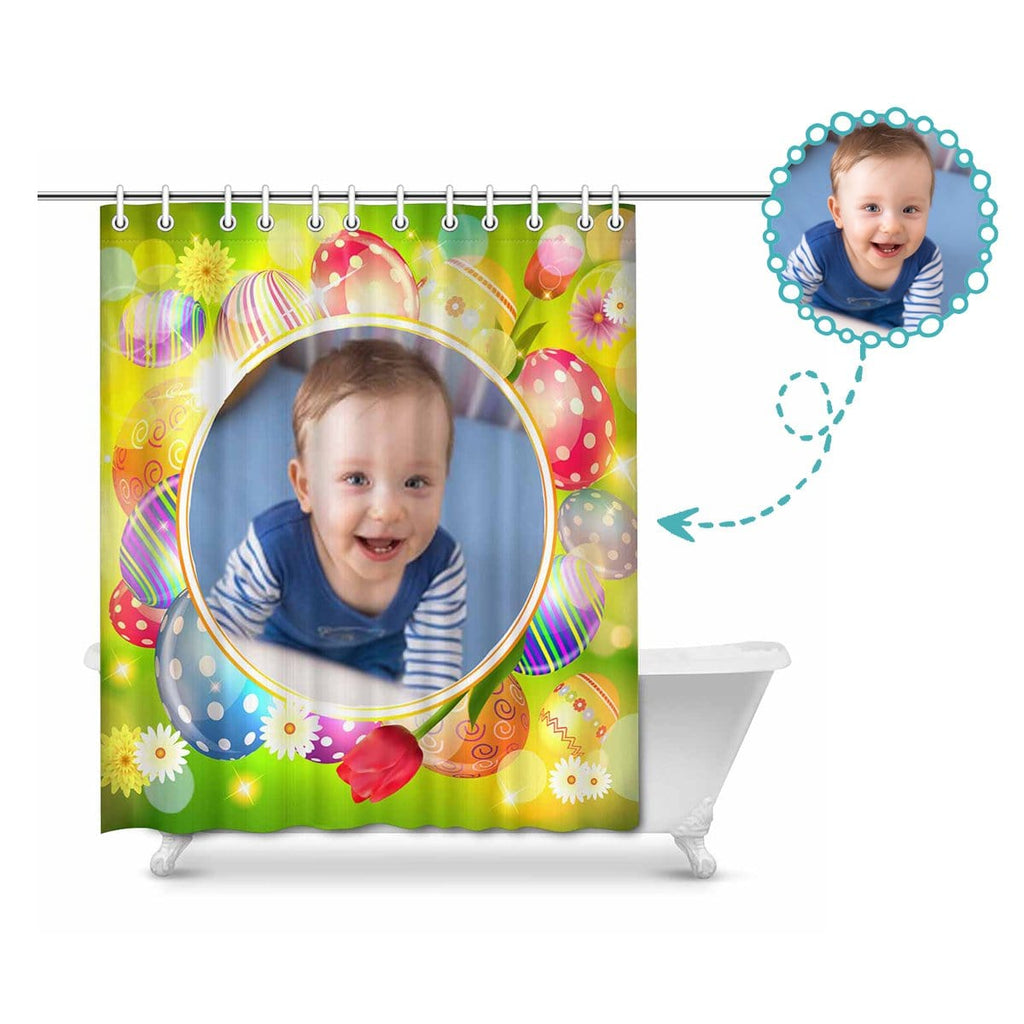 "Custom Photo Easter Day Shower Curtain 66""x72"""