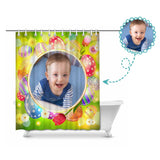 Custom Photo Easter Day Shower Curtain 66