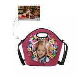 Custom Girl Face Easter Flower Large Neoprene Lunch Tote