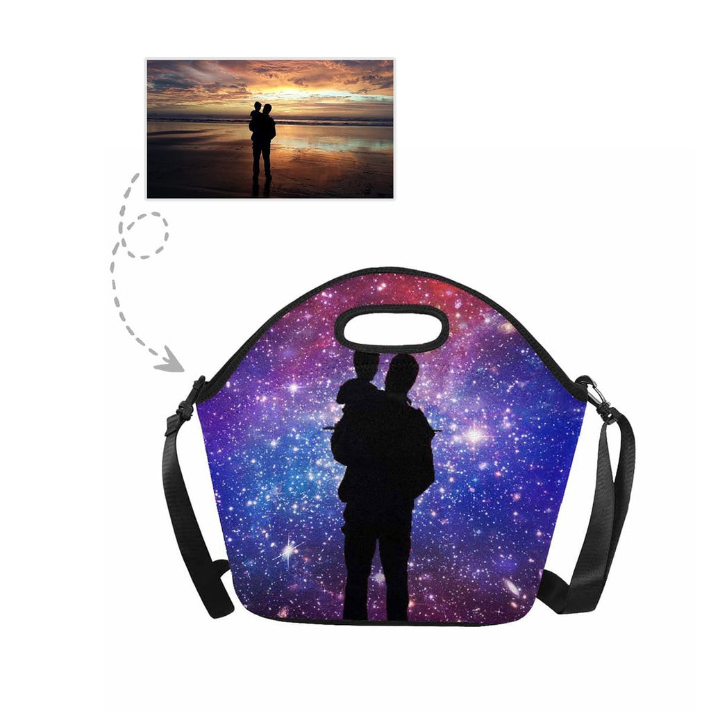 Custom You&Dad Galaxy Large Neoprene Lunch Tote