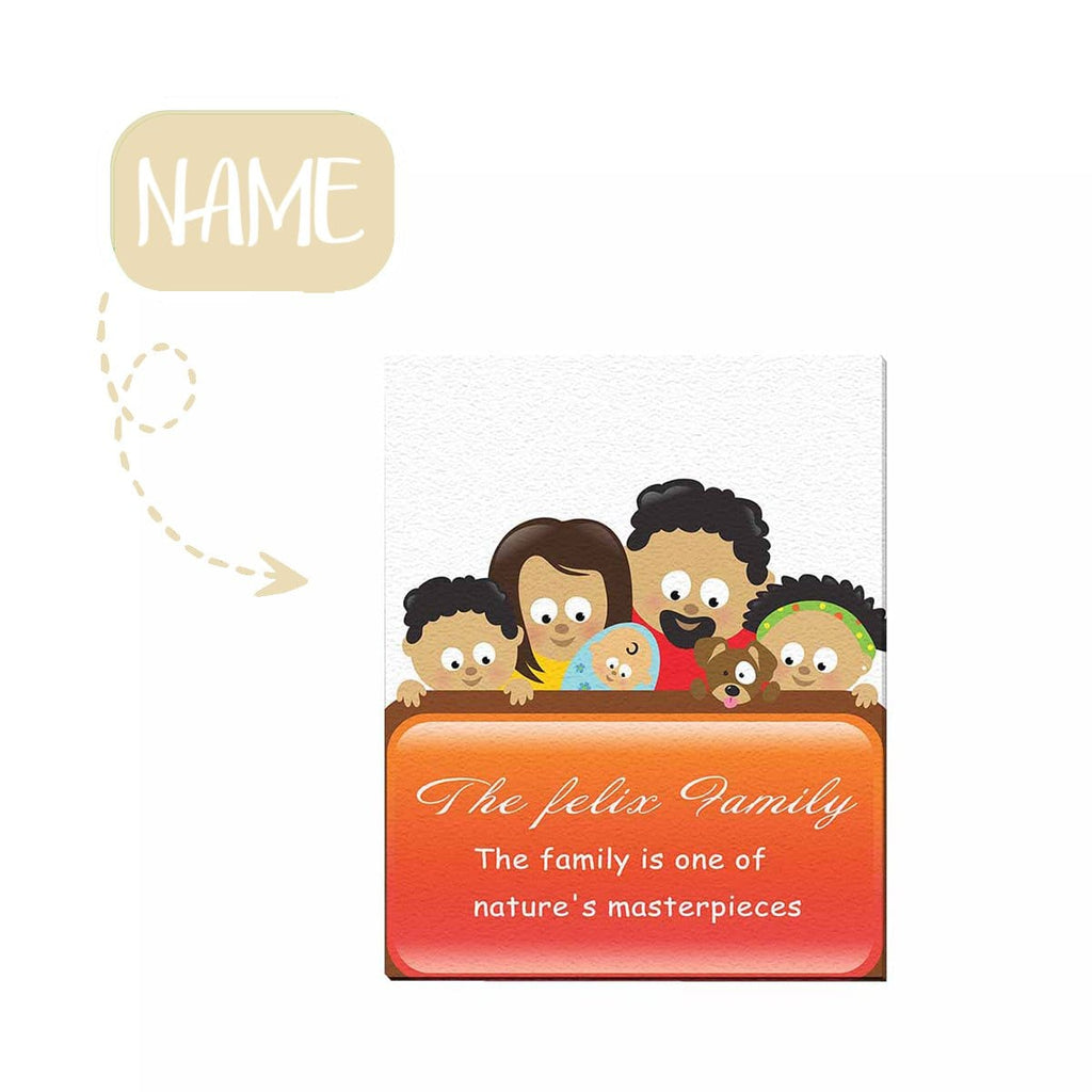 "Custom Family Name 02 Canvas Print  16""x 20"""