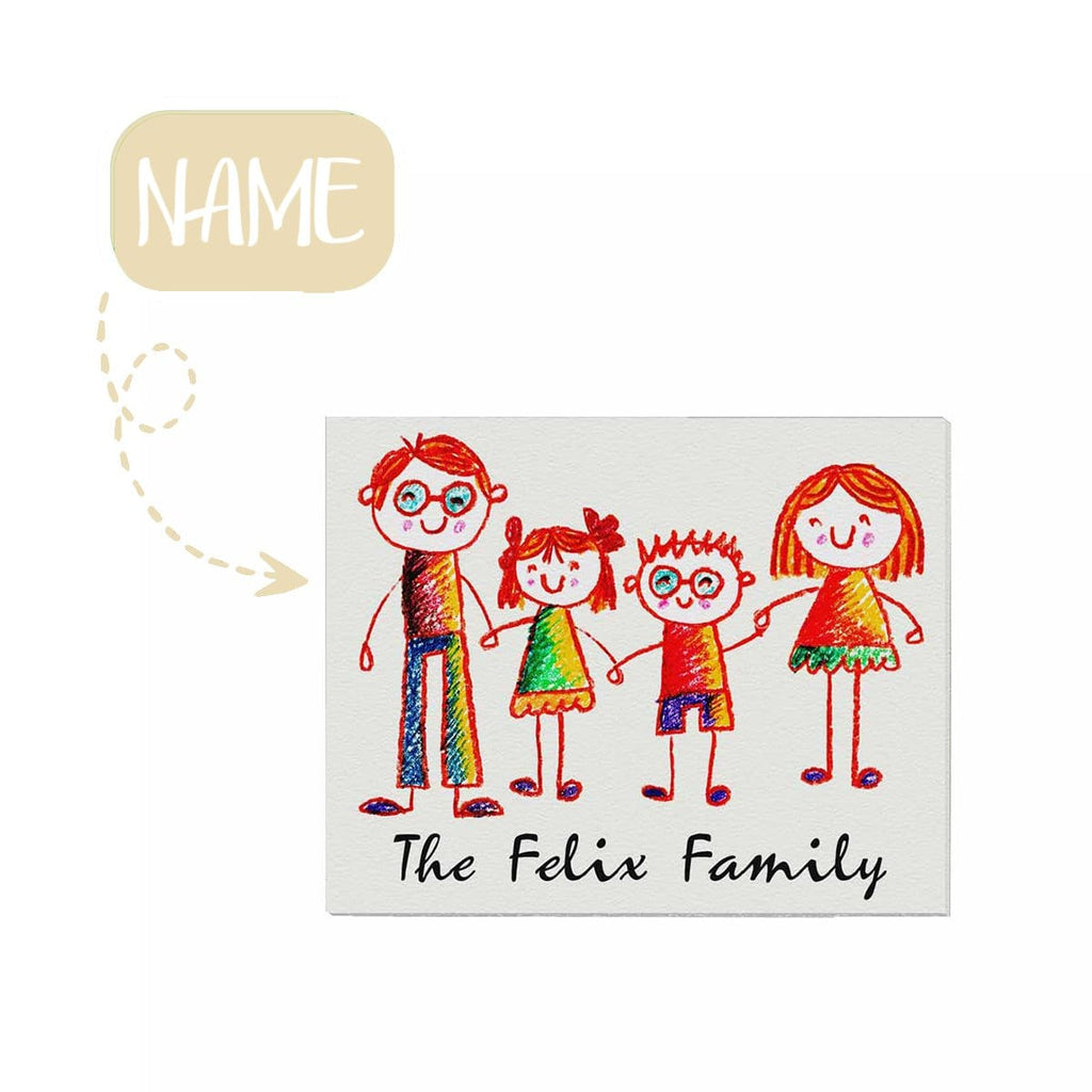 "Custom Family Name 01 Canvas Print 20""x16"""