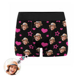 Custom Face Heart Star Men's Boxer Briefs