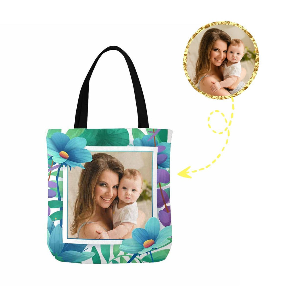 Custom Photo Mother's Day Canvas Tote Bag
