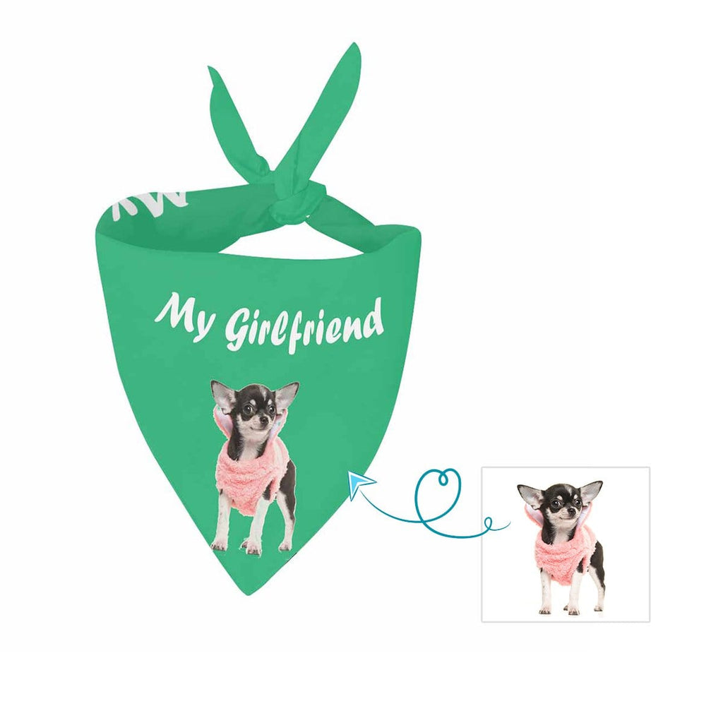 Custom Dog My Girlfriend Pet Bandana