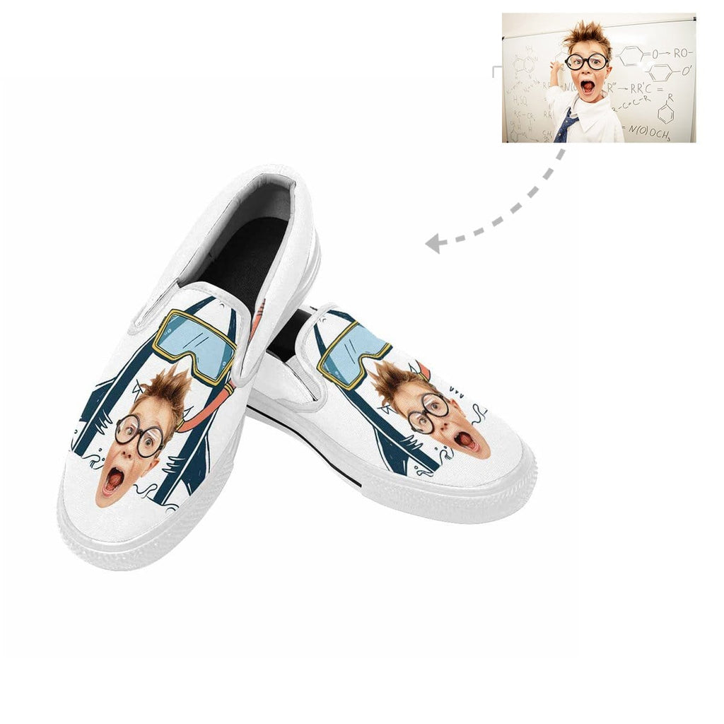 Custom Face Shark Slip-on Canvas Women's Shoes