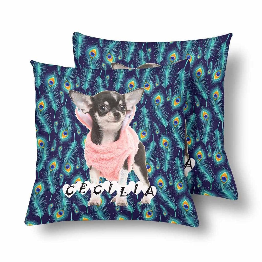Custom Chihuahua Name Throw Pillow Cover